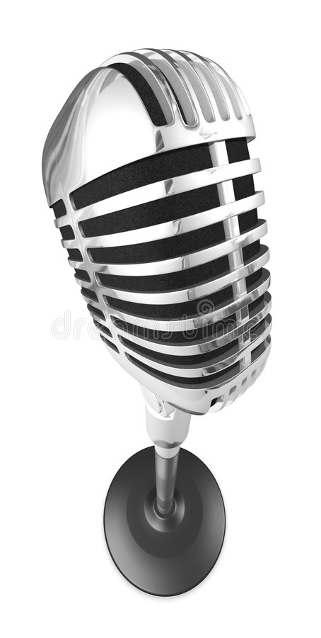 microfono 50s illustrazione di stock