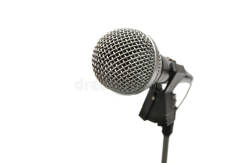 Microfono fotografia stock libera da diritti