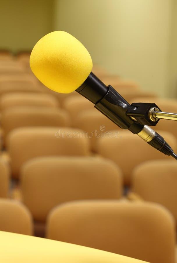 Microfono al congresso immagini stock