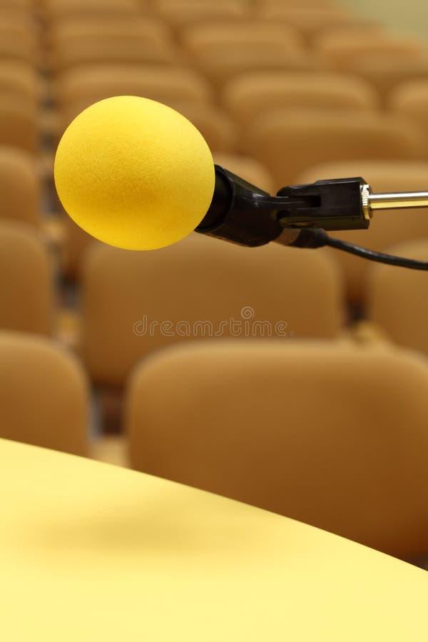 Microfono al congresso immagini stock libere da diritti