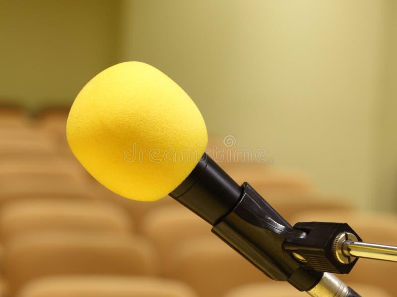 Microfono al congresso fotografie stock libere da diritti