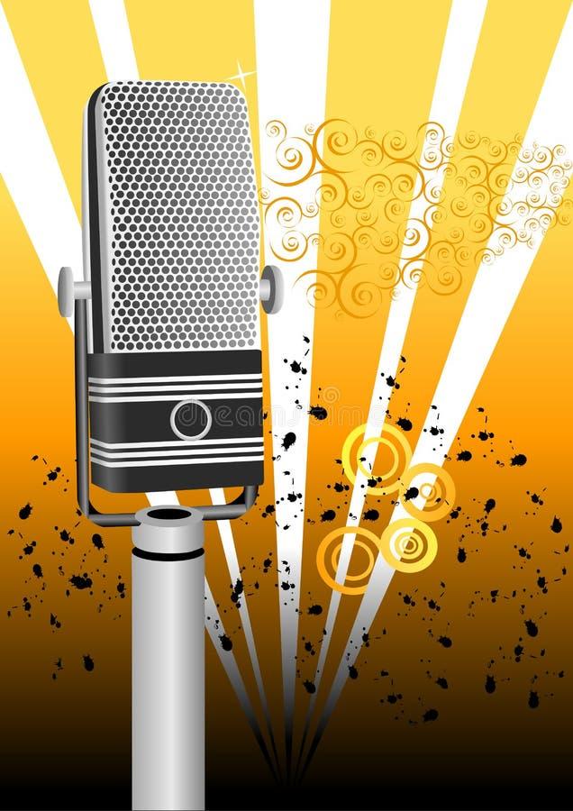 Microfono antico del grunge royalty illustrazione gratis