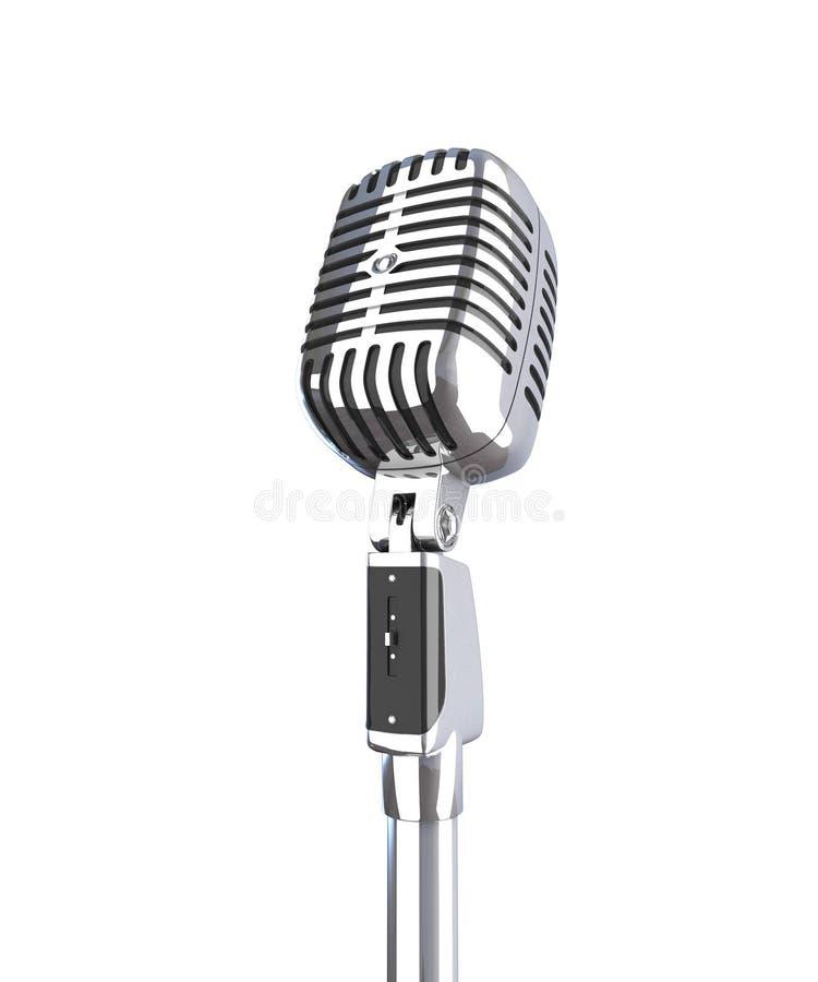Microfono classico illustrazione vettoriale