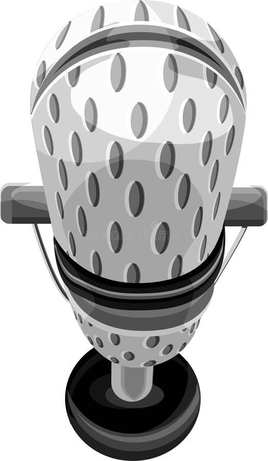 Microfono con il percorso di residuo della potatura meccanica illustrazione di stock