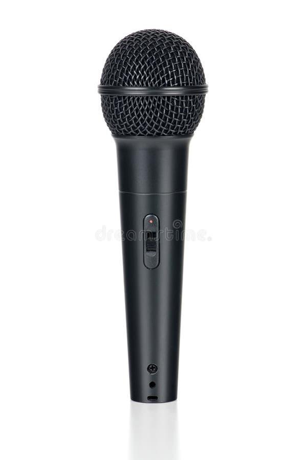 Microfono con ombra immagine stock libera da diritti