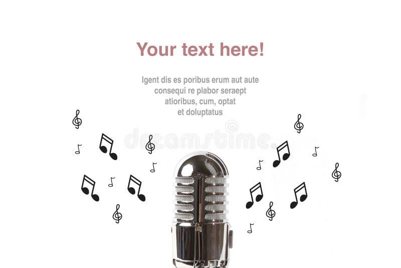 Microfono d'annata con partitura fotografie stock libere da diritti