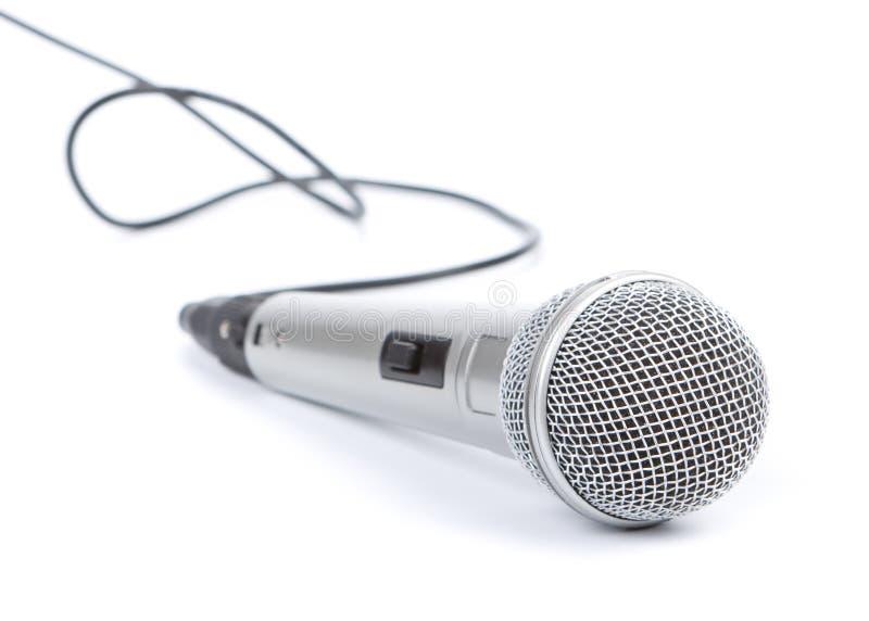 Microfono d'argento fotografie stock libere da diritti