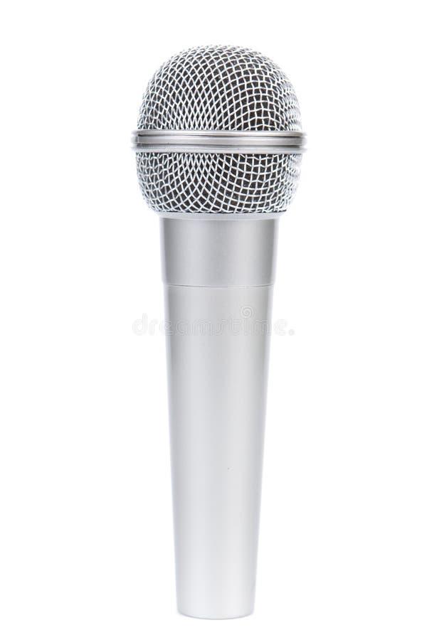 Microfono d'argento fotografia stock libera da diritti