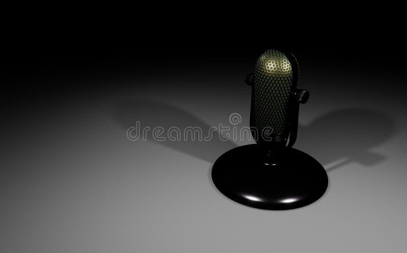 microfono 3D sul supporto illustrazione vettoriale