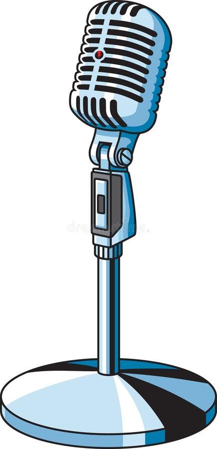 Microfono dell'annata royalty illustrazione gratis