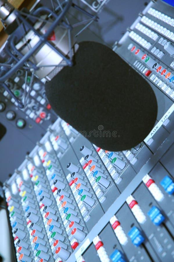 Microfono dello studio e serie di stampa fotografie stock libere da diritti