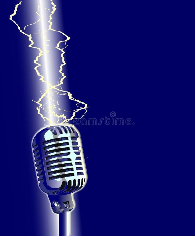 Microfono di Stike del fulmine illustrazione vettoriale