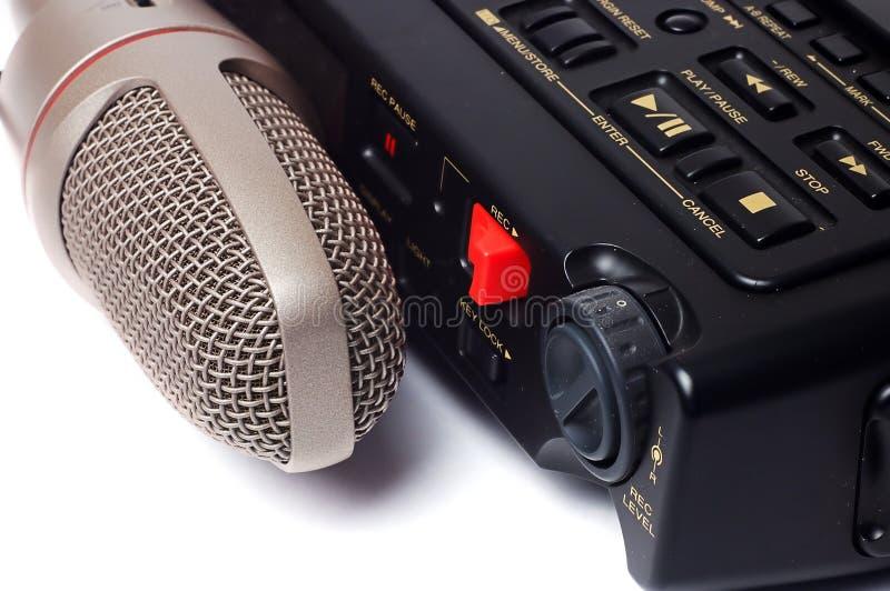 Microfono e dictophone immagine stock libera da diritti