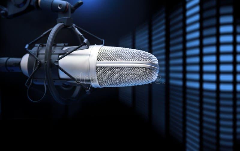 Microfono ed analizzatore fotografia stock libera da diritti