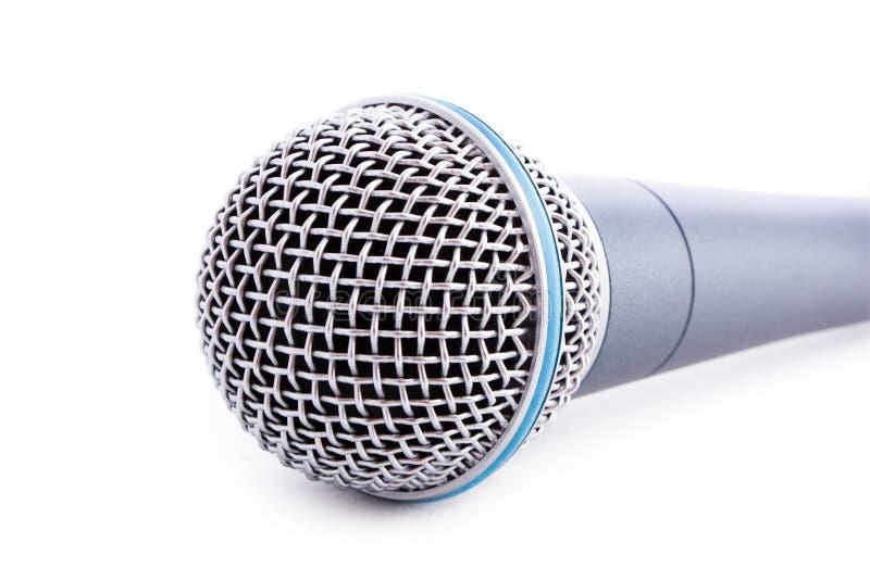 Microfono isolato immagini stock