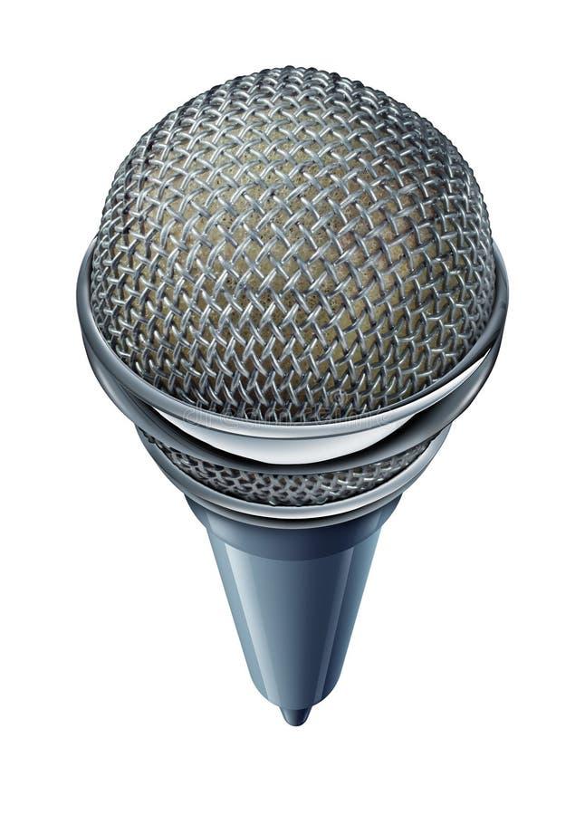 Microfono Isolato Fotografia Stock