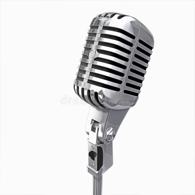Microfono isolato fotografie stock