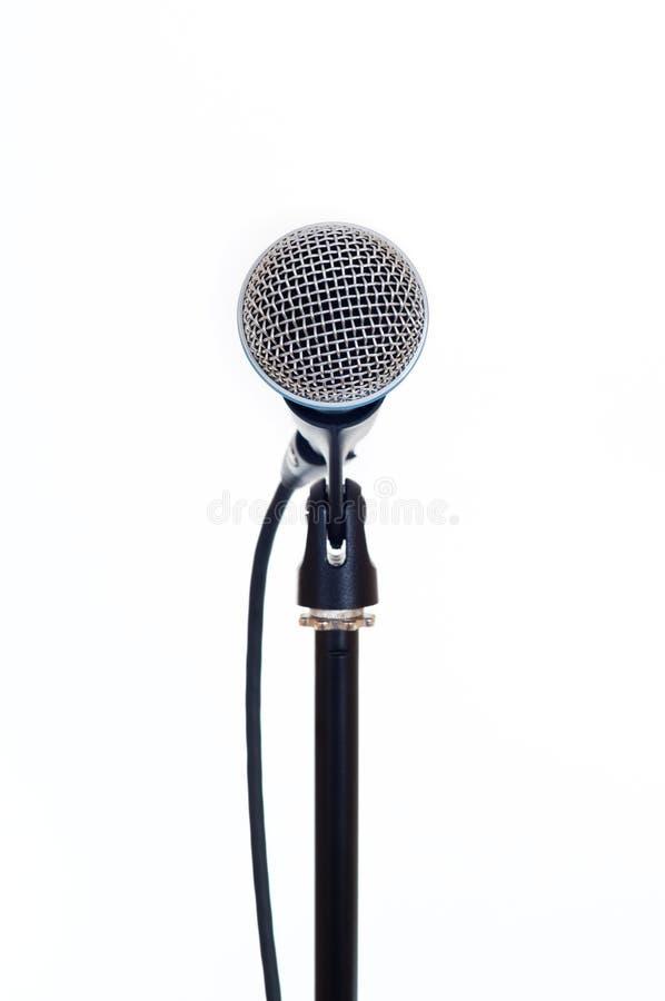 Microfono isolato su bianco immagini stock libere da diritti