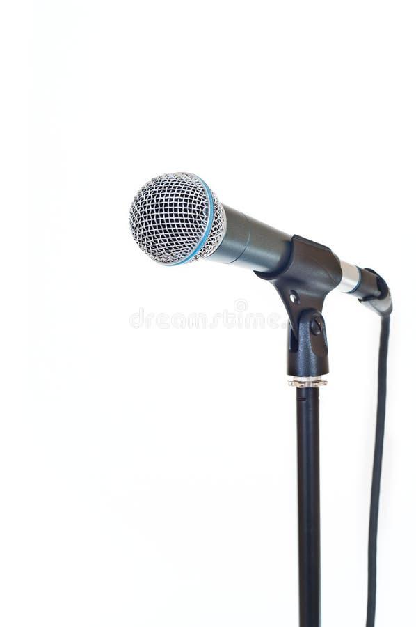 Microfono isolato su bianco immagine stock libera da diritti
