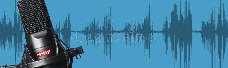 Microfono per il suono, musica, karaoke illustrazione di stock