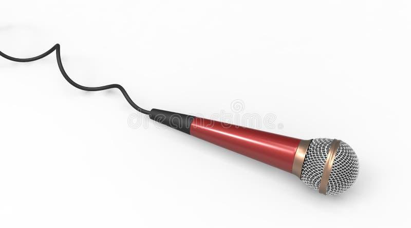 Microfono rosso royalty illustrazione gratis