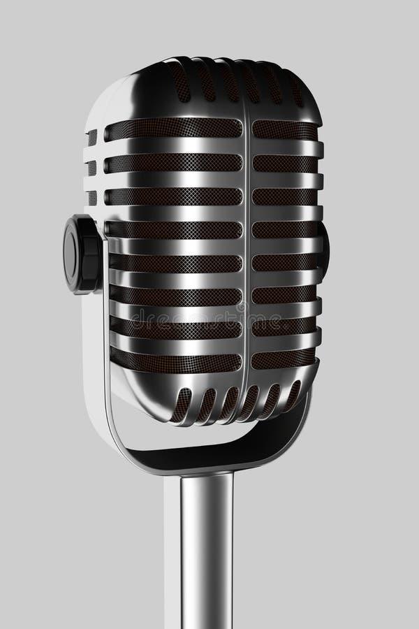 Microfono su un fondo bianco royalty illustrazione gratis