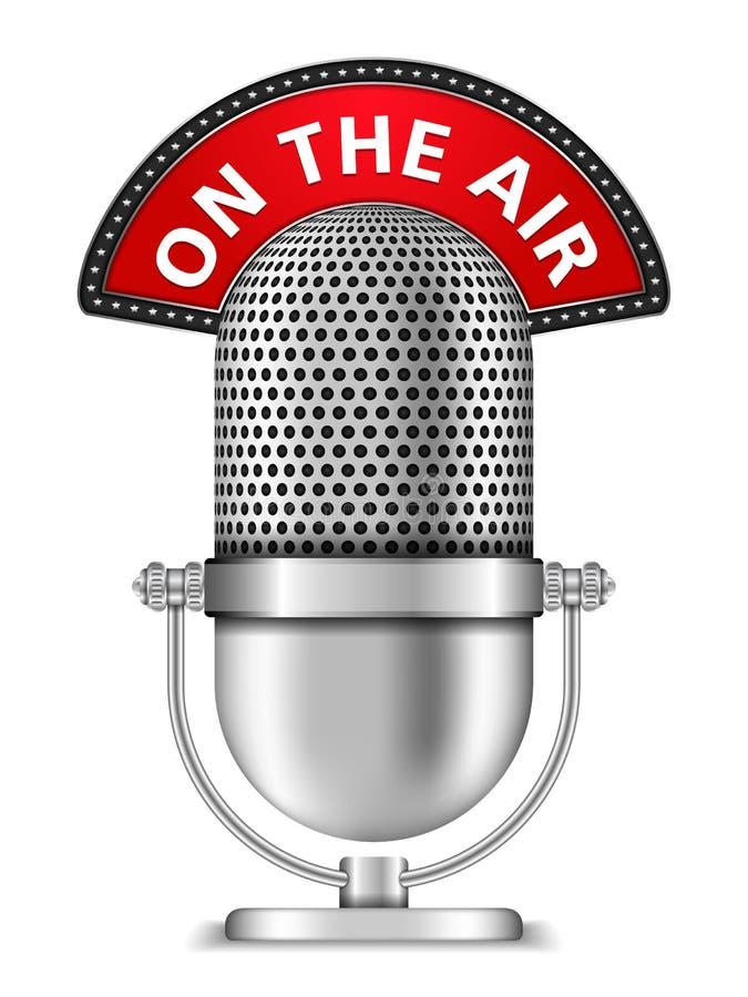 Microfono sull'aria illustrazione di stock
