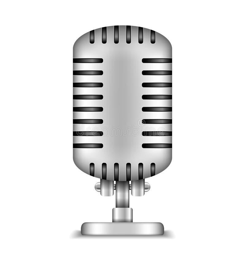 Microfoon stock illustratie