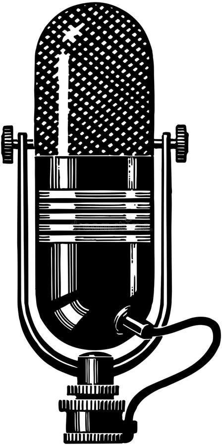 Microfoon 2 stock illustratie