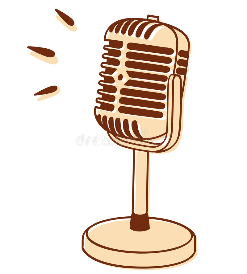 Microfoon vector illustratie