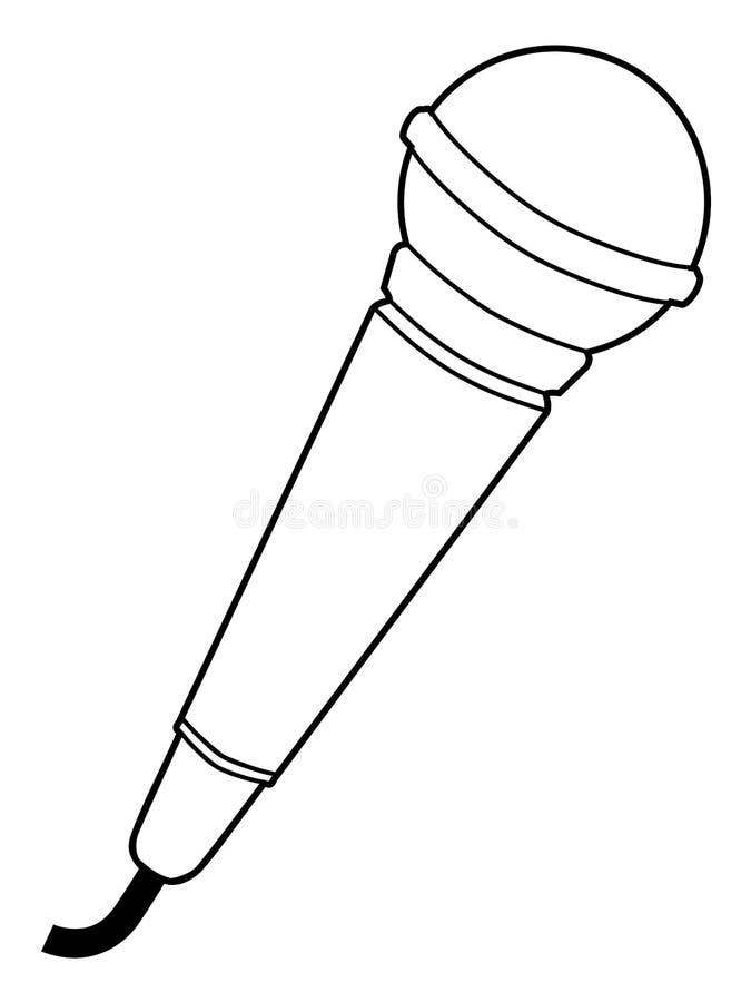 microfoon  audiomateriaal stock illustratie  illustratie