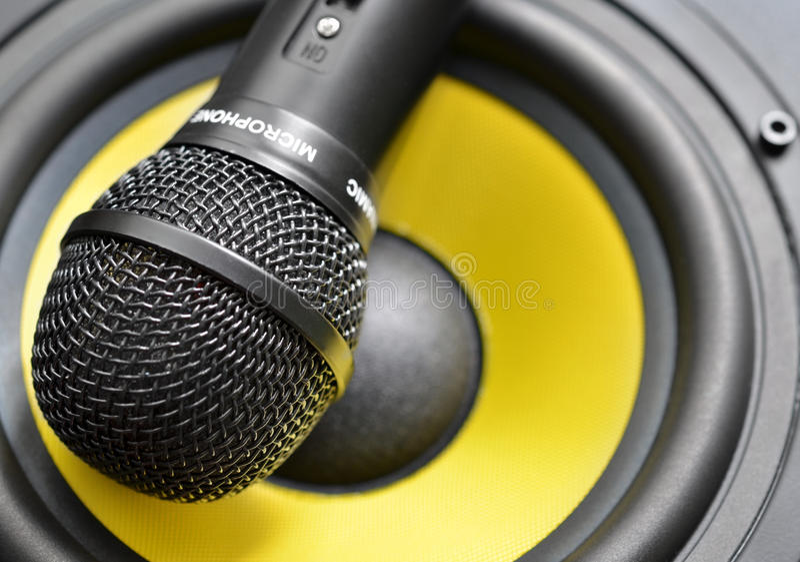 Microfoon en spreker royalty-vrije stock afbeelding