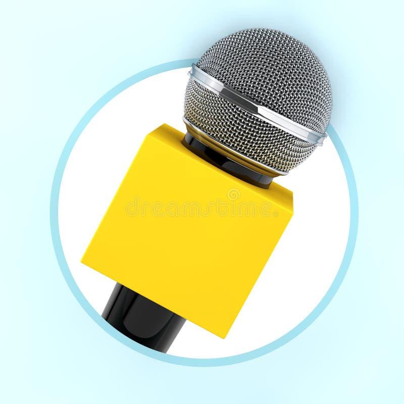 Microfoon met Exemplaar Ruimtevakje voor van u Ontwerp als Cirkelpictogram vector illustratie