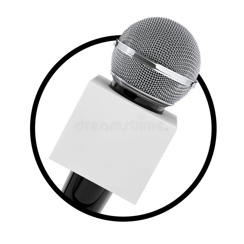 Microfoon met Exemplaar Ruimtevakje voor van u Ontwerp als Cirkelpictogram stock illustratie