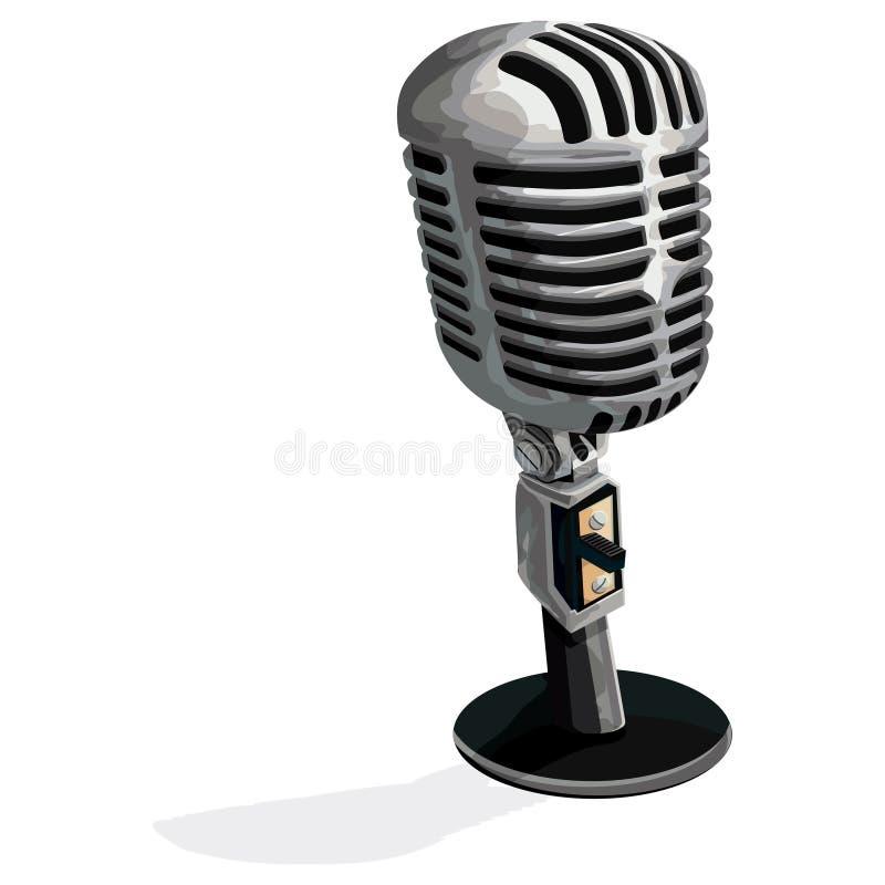 Microfoon met het knippen van weg royalty-vrije illustratie