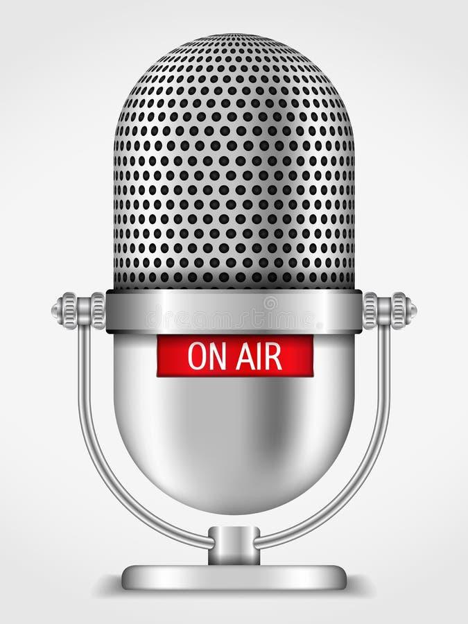 Microfoon op de Lucht vector illustratie