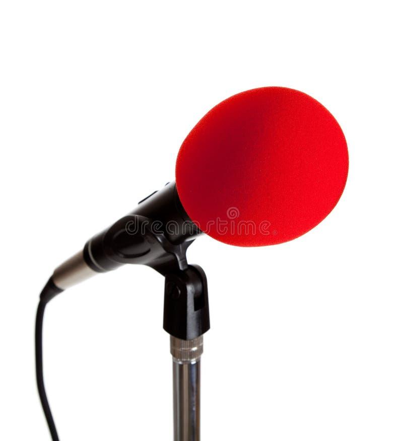 Microfoon op een tribune stock foto