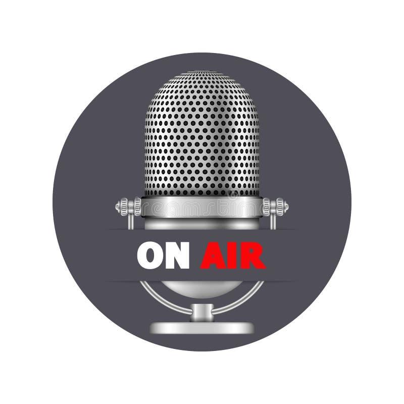 Microfoon op Lucht stock illustratie