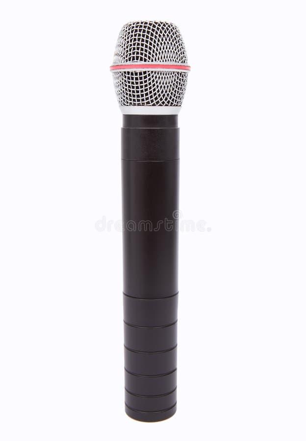 Microfoon op wit stock afbeeldingen
