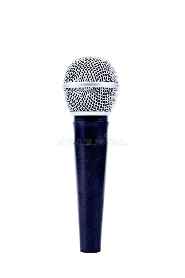 Microfoon op wit stock afbeelding