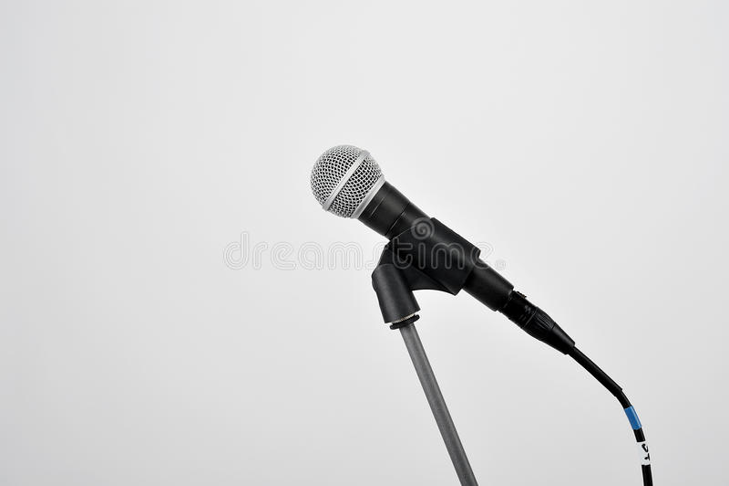 Microfoon op wit royalty-vrije stock foto's