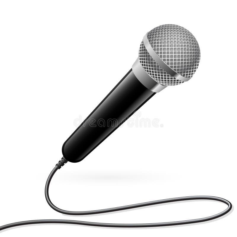Microfoon voor Karaoke stock illustratie