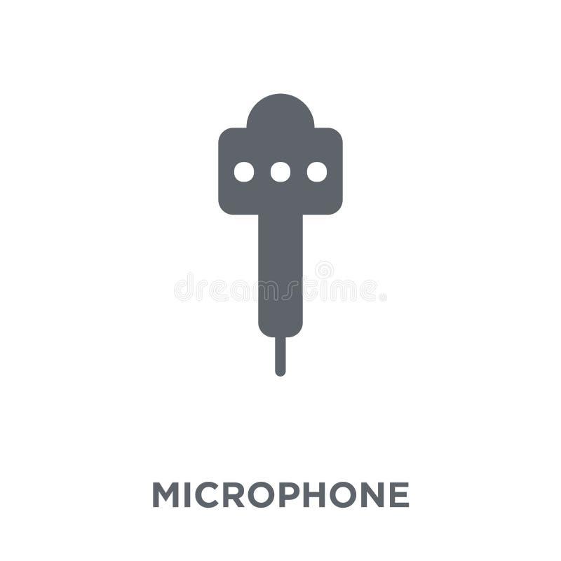 Microfoonpictogram van Elektronische apparateninzameling stock illustratie
