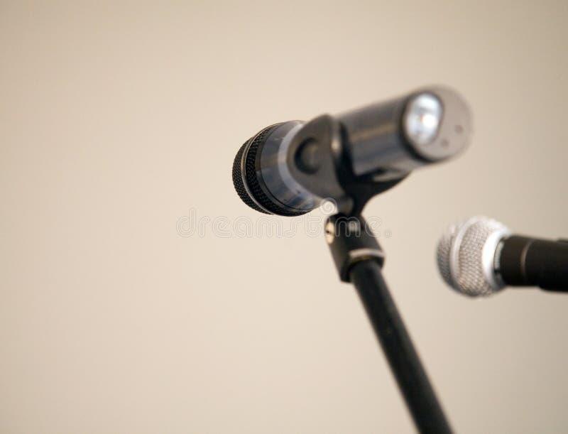 Microfoons royalty-vrije stock afbeeldingen