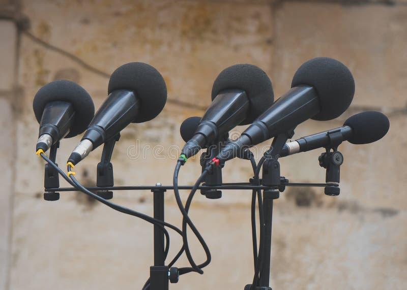 microfoons royalty-vrije stock fotografie