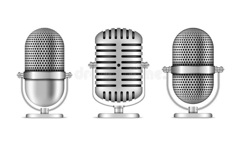 microfoons stock illustratie