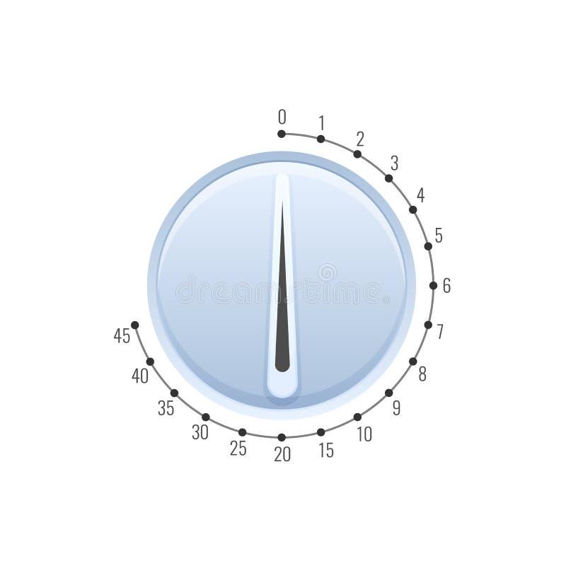 Microgolftijdopnemer, chronometer, digitaal en huistoestel Huishoudenhorloges royalty-vrije illustratie