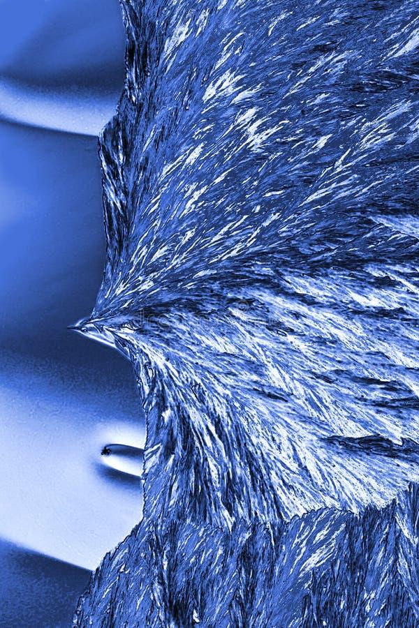 Micrografia abstrata de cristais do ácido ascórbico na disposição brilhante imagem de stock