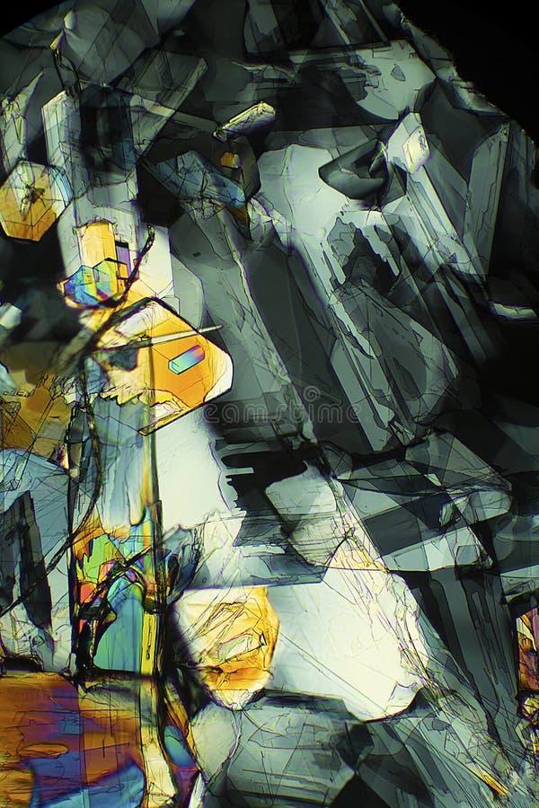 Micrographe abstrait de la méthionine, un acide aminé, à 40X photos stock