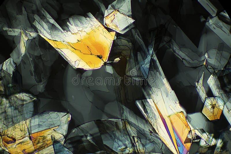 Micrographe abstrait de la méthionine, un acide aminé, à 40X photo libre de droits